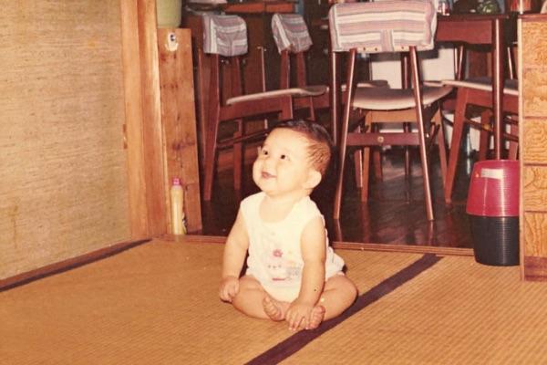 長友たかのり 赤ちゃんの頃の写真